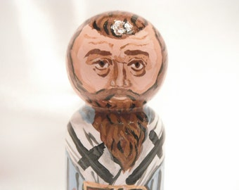 Saint Basil the Great - Catholic Saint Doll - made to order