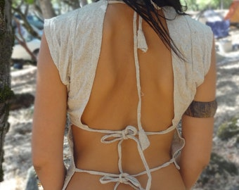 Tribal Top~Raw Silk ~