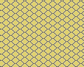 Joel Dewberry - AVIARY 2 - Lodge Lattice in Vintage Yellow JD46 - Free Spirit Fabric - By the Yard