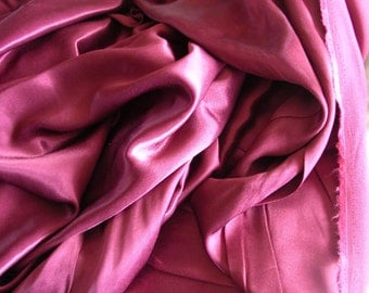 Burgandy Crepe Back Satin   1 Yard   (SM276)