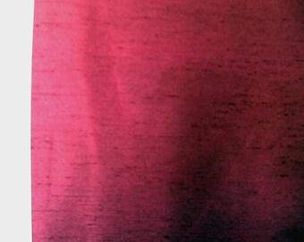 Burgandy Satin-Backed Shantung    1 Yard   (SM295)