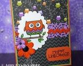 Happy Halloween Owl Card