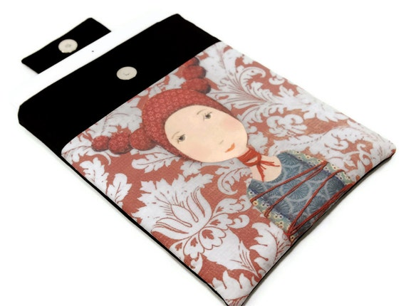 Padded iPad Case Cover, iPad sleeve,  Tied up girl Unique Design fabric printing, Tablet Accessories