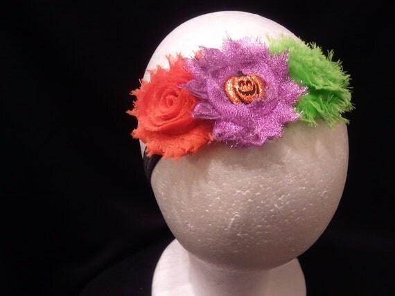 Halloween Shabby Flower Headband
