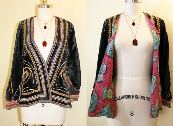 1960s / 1970s  Boho Authentic Indigenous Jacket Handmade size Small
