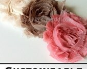 Pick 3 Flowers:  Shabby Chic Headband for Baby Headbands, teen headbands, adult headbands- customizable