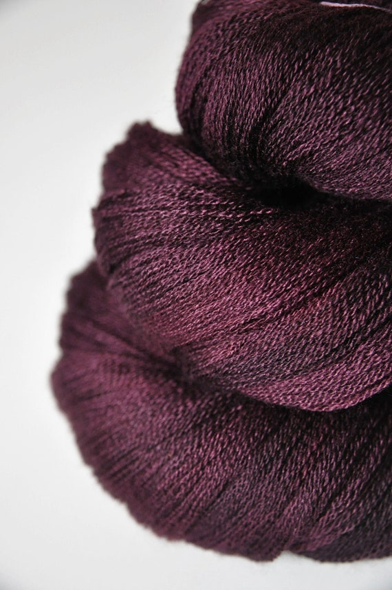 Mashed red cherries OOAK - Merino/Silk/Cashmere Yarn Fine Lace weight