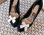 SILVER Bow Shoe Clips by Studio H. Boutique