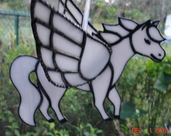 3D Stained Glass Pegasus in