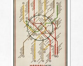 LARGE illustration 11.70 x 16.50 (A3). Moscow Metro Map. (Color). (Special SPRING  offer: Get a poster for free)