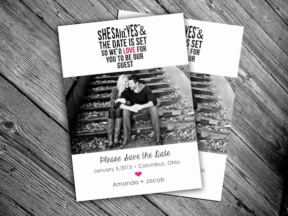 Save the date announcements -Printable