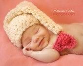 Newborn baby Valentine Hat Crochet photo prop