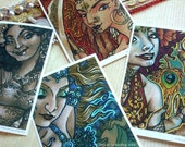 Bellydancer Series of 4 Mini-Prints