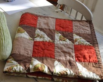Vintage Autumn Baby Quilt