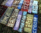 Signs On Reclaimed fence pickets Custom ORDER Inlcudes 20 signs