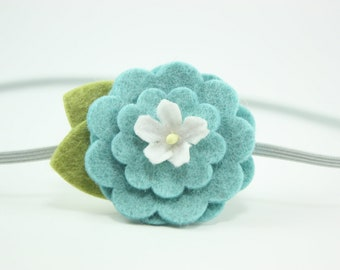 Teal Flower Headband - Photography Prop - Newborn Girl Headband - Toddler Headband - Baby Headbands