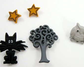 Halloween Buttons Set No. 4