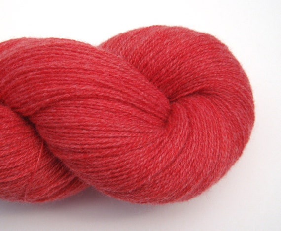 Lace Weight Cashmere Recycled Yarn, Coral, 1260 Yards