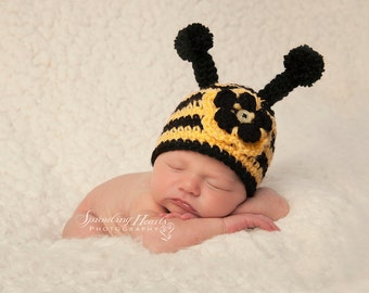 Newborn Bee Hat