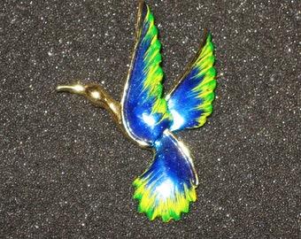 Vintage Gerrys Blue Bird In Flight Pin
