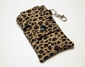 iPhone 7 Case,  Cell Phone Holder, iPhone Pouch, iPhone 6s Plus Case, LG G5 Phone Case, Samsung S6 Edge Plus Case, Droid Maxx Case-Cheetah