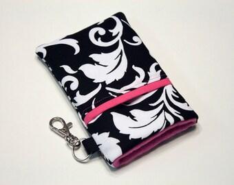 Custom Fabric HTC One M10 A9 M9 M9+, Google Nexus 5x 6p 6, OnePlus 2 mini 3 X, LG Flex 3 2 Case, pouch, sleeve, wallet, purse-Reverse pink