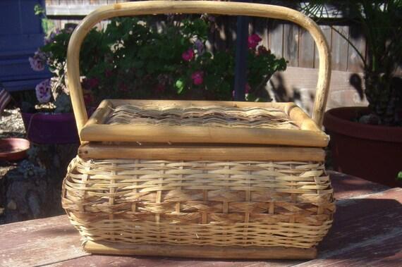 Small Wicker Sewing Basket