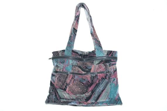 Vintage 90's WEIRD COSMIC Velvet Bag