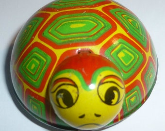 Koyo Vintage Tin Friction Toy Turtle, 1950s