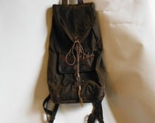 Bullets and Crystal Waterproofed Waxed Cotton and Leather Handcrafted Backpack