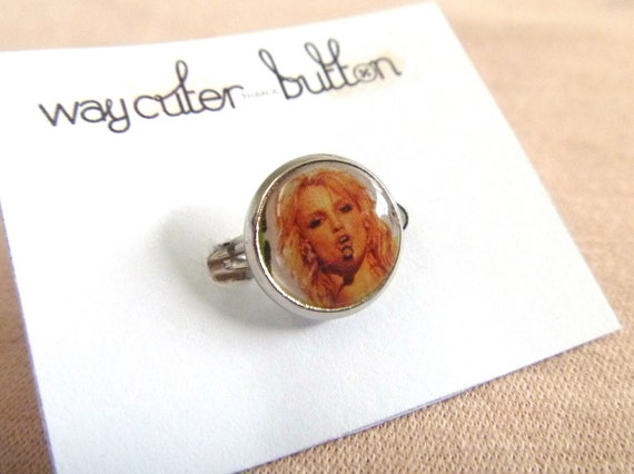 Britney Spears Magazine Ring