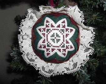 Christmas Ornament - Musical Cross Stitch - Jingle Bells
