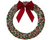 Upcycled Magazine Wreath - Christmas Wreath Made from Recycled Magazines