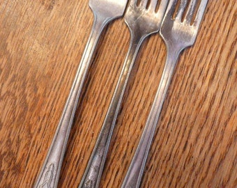 Three Antique Rogers Silver Plate Forks