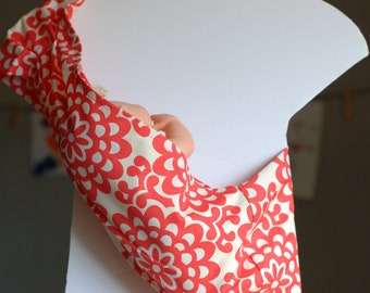 Amy Butler Doll Sling - Original Pleated Shouler Doll Sling - SMALL - Toy Pouch Sling Carrier