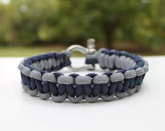Dallas Cowboys 550 Paracord Survival Strap Bracelet Anklet with Stainless Steel Shackle