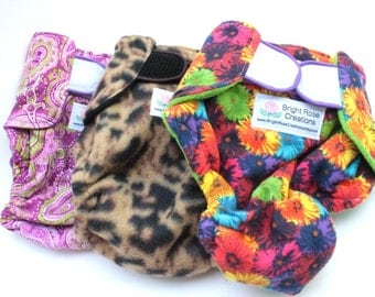 XXL, 26-30 Inches, Female Dog Diaper, Fashion, Extra Extra Large, 2xl Custom Made to Order, Pee Protector, Canine Panties