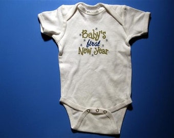 Baby  one piece - Embroidery and appliqued Baby's first new year