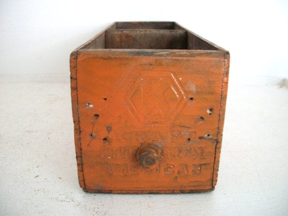 Vintage Divided Box Shelf