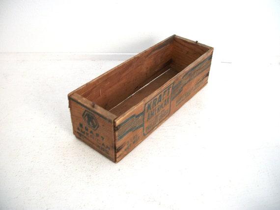 Vintage Cheese Box- Kraft