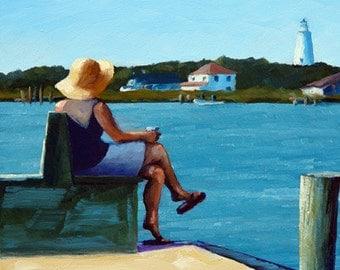 Soaking It In - Oil Painting - 11x14in. Print