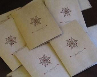 Snowflake Christmas Card set of 5