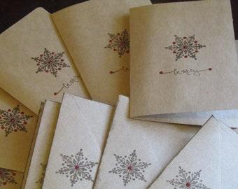 Snowflake Chirstmas Card Set of 8
