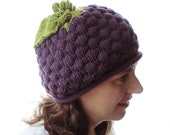 Bunch of Grapes Hat - Adult - Soft Hand Knit - Made to Order