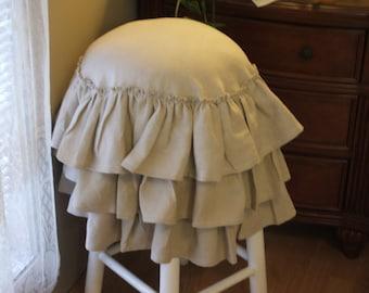 shabby chic bar stool ( linen)