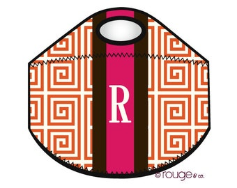 monogrammed lunch cooler - PREPPY  - insulated zipper tote bag with customizable pattern and monogram
