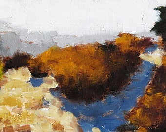 San Diego Art, Fall Morning, Oil Painting Landscape
