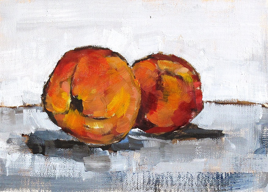 Still Life With Peaches Painting