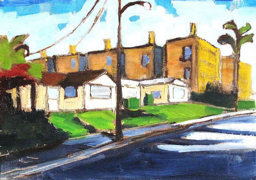 Hillcrest Street- Painting of San Diego