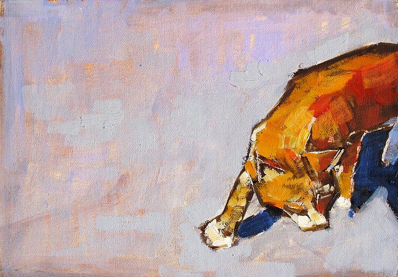 Orange Tabby Cat Painting